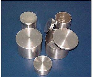 Capsula de Aluminio com Tampa  Cilindrico (favor especificar tamanho)