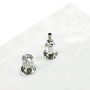 Tedlar Sample Bag, 1 Liter, Dual Stainless Steel Fittings - Bag em tedlar com valvula dupla em inox para amostragem de ar de 1lt marca SKC 231-01A