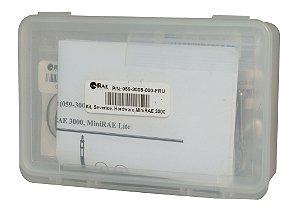 Kit para manutenção de MINIRAE 3000- Anéis de vedação, parafusos, filtro com poro de metal, o-rings, etc.RAE COD 059-3008-000-FRU