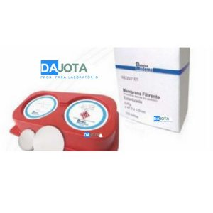 Membranas de Ésteres de Celulose, branca,quadriculada, diametro 47 mm x 0,45 micras de poro CX 100 unidades Esteril