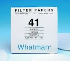 PAPEL FILTRO Nº1441 9 cm - WHATMAN ref. 1441-090 CX. 100 un. - FILTER PAPER