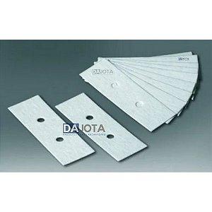 Papel para Citocentrifuga gramatura 420g/m2, med 25x77,com 2 perfuracoes de 5 mm cx 200folhas