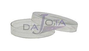 Placa Petri em vidro, 90x15mm pacote com 10 unidades marca labware