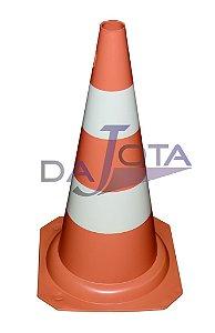 Cone de Sinalização (Pequeno) Laranja e Branco