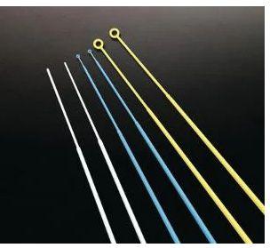 Alca Plastica Esteril, Flexivel, calibrada de 1 MCL, Amarela,Embalagem Individual, Cx 100