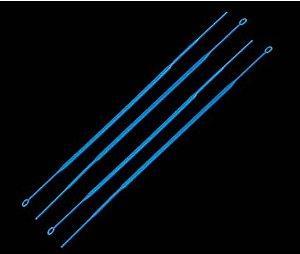 Alca Plastica Esteril, Flexivel, calibrada de 10 MCL, Azul, Embalagem Individual, Cx 100