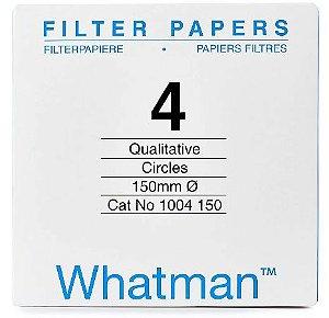 Papel Filtro, Qualitativo,Filtragem Rapida,Diametro 150 mm cx com 100 folhas