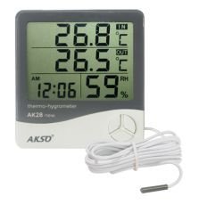 Termo-Higrômetro Digital com Sensor Externo e Relógio
