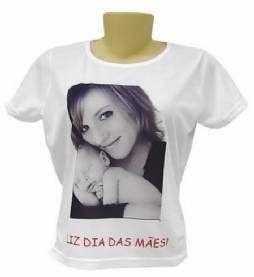 Camiseta Personalizada com fotos e Frases ou Logo