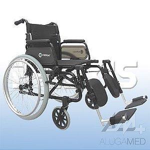 Cadeira de Rodas de Alumínio Comfort Modelo: SL-7100A-24 -SEF e SL-7100J-24-SEF