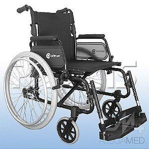 Cadeira de Rodas de Alumínio Comfort Modelo: MODELO SL-7100 -A- FB- 24 e SL-7100 -J- FB- 24