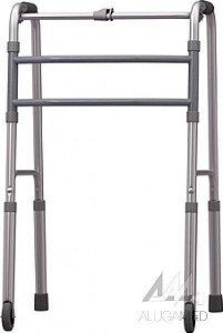 Andador de Alumínio Dobrável - Fixo com Rodas Mercur