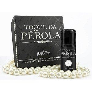 Toque da Pérola Loção e Colar de Pérolas para Massagem Sensual Hot Flowers - Erótika Store