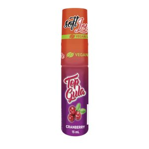Top Gula Gel Dessensibilizante Oral Comestível de Cranberry - Soft Love - Erótka Store