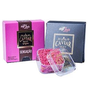 Caviar Sexy Sensação Micro Esferas Saborosas para Massagem Soft Love - Erótika Store