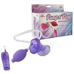 Bomba Vaginal Estimulador com Vibro e Sucção - Erótika Store