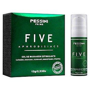 Five Aphrodisiacs Gel Para Massagem Estimulante Pessini - Erótika Store
