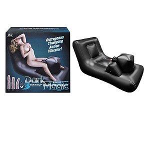Cama inflável com maquina de sexo, 3 penis diferentes, controle sem fio e pump - Dark Magic - Erótika Store