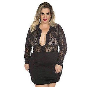 Fantasia Executiva Plus Size Pimenta Sexy - Erótika Store