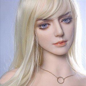 Boneca realística em cyber skin Loira Franja Doll Seios Fartos - Erótika Store