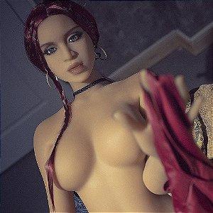 Boneca realística em cyber skin Cabelos Ruivos Doll Seios Fartos - Erótika Store