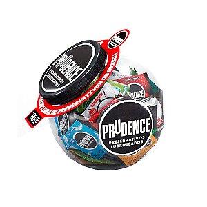 Pote do Prazer com Preservativos Lubrificados Variados Prudence - Erótika Store