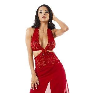 Camisola Renda Longa Pimenta Sexy-Erotika Store