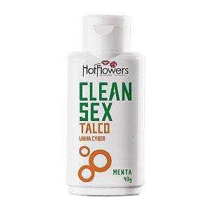 Talco Clean Sex Linha Cyber Menta Hot Flowers - Erótika Store