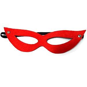 Máscara Pelúcia Vermelha Preta- Erotika Store
