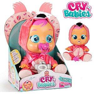 Boneca Cry Babies Flamy Chora Com Sons E Lágrimas De Verdade  Multikids