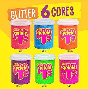 Geleca Slime Com Glitter - Kit 3 unidades cores sortidas