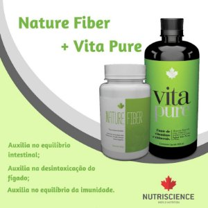 Combo Detox Nutriscience com Nature Fiber e Vita Pure