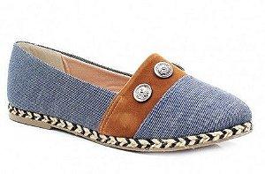 Alpargatas sua cia Jeans com marron e cordas