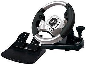 Volante Sport Racing com Marcha e Pedais Vibration USB