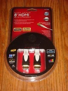 "Cabo GE HDMI 8"" High Speed Ultra Pro with Ethernet HD"