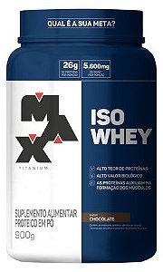 Iso Whey - Whey protein Isolada - 900 G - Max Titanium