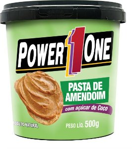 Pasta de Amendoim com Açúcar de Coco (500g) - Power One