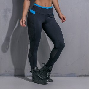Calça Legging Black And Blue - Labellamafia