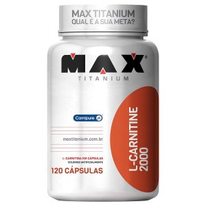 L-Carnitine 2000 - 120 Cáps - Max Titanium