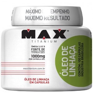 Óleo de Linhaça 1000mg (100 Cáps) Max Titanium