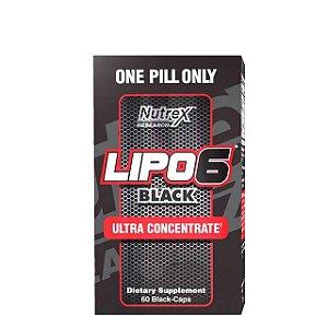 Lipo 6 Black Ultra Concentrado - 60 Cápsulas - Nutrex