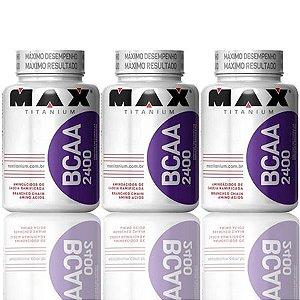 Combo 3 BCAA 100 Cápsulas - Max Titanium