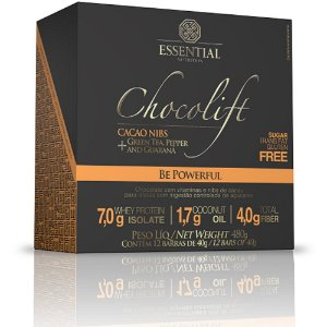 Chocolift Be Powerful (12 barras de 40g) Essential Nutrition