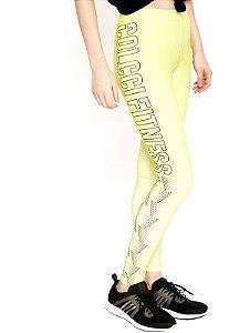 Calça Legging Fusô Amarela - Colcci Fitness