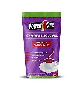 Chá Mate Solúvel com Açaí e Pimenta Caiena (100g) Power One