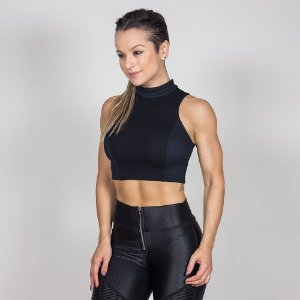 BLUSA CROPPED BLACK SKULL - LABELLAMAFIA