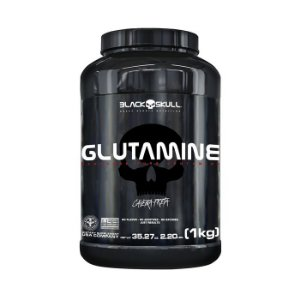 Glutamina (1Kg) Caveira Preta - Black Skull