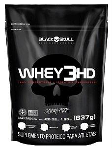 Whey 3HD Caveira Preta (837g) - Refil - Black Skull