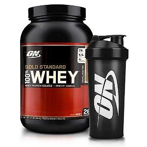 Kit Whey Protein 100% Gold Standard (909g) + Coqueteleira de Brinde - Optimum Nutrition