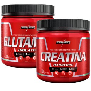Kit Glutamina (300g) + Creatina Hardcore (300g) - Integralmédica